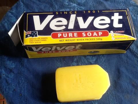Velvet soap